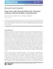 Pop Goes IR
