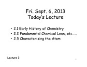 CHEM 121 Lecture 2