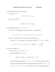 Midterm Questions + Solutions 3