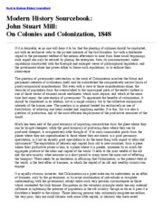 On Colonies and Colonization, 1848