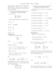 Homework on Convergence Series with answers