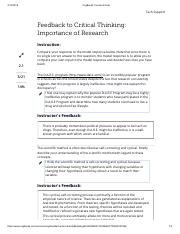 005. Feedback to Critical Thinking - Importance of Research.pdf