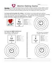 Atomic dating game worksheet answers