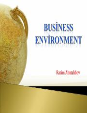 3. Business environment