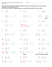 Printables Simplifying Rational Expressions Worksheet multiplying and dividing rational expressions worksheet kuta infinite algebra 2 rational