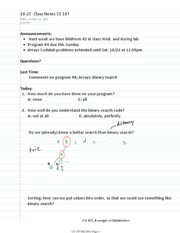 10-21  Class Notes CS 107