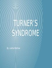Turner's Syndrome.pptx
