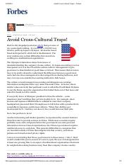 1Avoid Cross-Cultural Traps! - Forbes.pdf