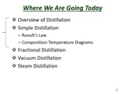 Slides for Separation by Distillation -- Lecture 6