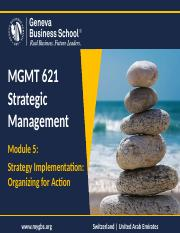 Module 5 - Strategy Implementation
