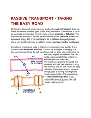 PASSIVE TRANSPORT - TAKING THE EASY ROAD