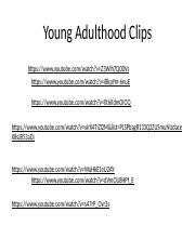 Young Adulthood Clips
