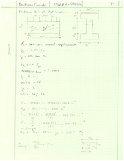 Homework 2 Solution on Prestressed Concrete Design
