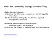 14. Communities for Predator Prey