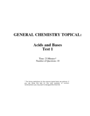 acids and bases test  w. solutions
