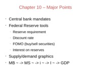 Chapter10 – Major Points
