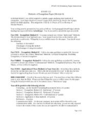 """evan 101 methods of evangelism paper module 7 Macaulay, reneé evan 101-c09 november 7, 2011 methods of evangelism part one - evangelistic method #1 - the """"intellectual"""" method of evangelism that i chose."""