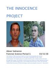 the innocence project .docx