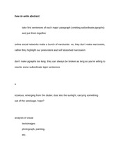 how to write abstract