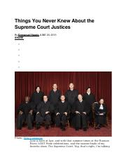 Things You Never Knew About the Supreme Court Justices.docx