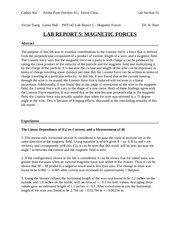 Lab 5 Magnetic Force Report