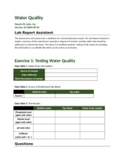 schuneman,C- Water Quality