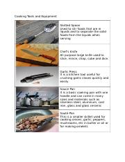 Cooking Tools and Equipment
