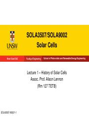 SOLA3507-9002 Lecture 1 Solar Cell History - Large