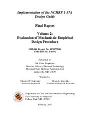 MDSHAEvaluationofMechanistic-EmpiricalDeisgnProcedure-Volume2.pdf