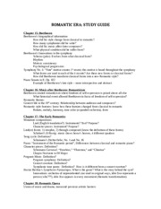 Study Guide Romantic 15