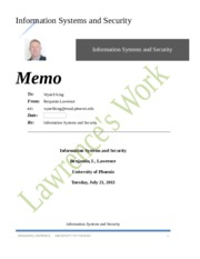 Information Systems and Security Week 2