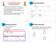 9 Elimination Reactions - 4 per page