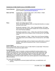 CHL5004H Fall 2014 Course Syllabus Final