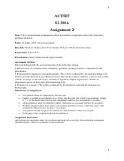 ACT507 Assignment 2 S2 2016 (4)