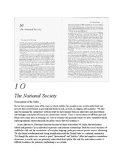 2 - (text) Public Order - Robert Bellah - Habits of the Heart CH10 - The National Society