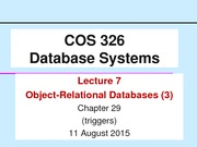 COS326-Lecture7-ORDBMS