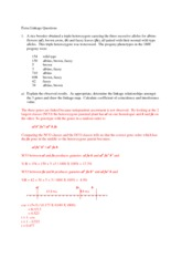 Extra Problems for Final Exam with Answer Key