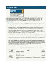 A Look at IFRS.docx