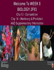 FALL 2015 BIOLOGY 2F03 WEEK 8 PPT CHPS 13 & 14 LECTURE5