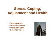Stress, Coping, Adjustment, and Health
