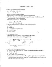 Exam A on Linear Systems