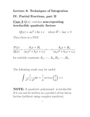 F13L8_Integrating Rational Functions by Partial Fractions II