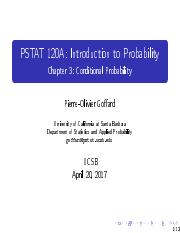 PSTAT120AChapter3ConditionalProbability