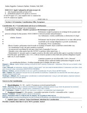 Contracts Schmitz OUTLINE - Fall 05 - Andra