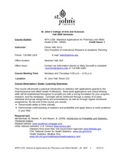 Course outline - Math1250 Fall 2011