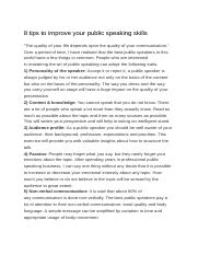 skills for public speaking