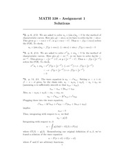 MATH 338 Assignment 1 Solutions