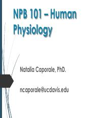NPB 101 - Lectures NC6 - Endocrine - GH