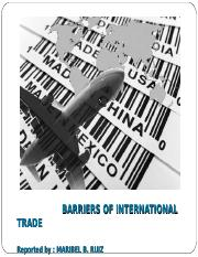 BARRIERS OF INTERNATIONAL TRADE.ppt
