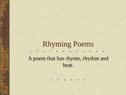 Rhyming Poems power point